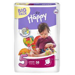 Подгузники памперсы Bella Happy 2-78, 3-72, 4-66, 462, 5-58, 6-54