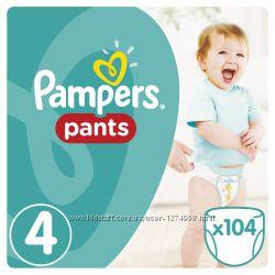 Подгузники-Трусики Pampers Pants Mega Box 4-104, 5-96, 6-88