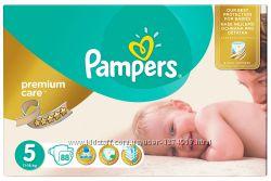 Подгузники Pampers Premium Care 3-120, 4-104, 5-88 Доставка