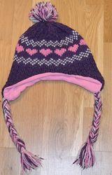 Шапка вязанная на флисе для девочки George 4-8 лет