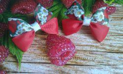 Бантики с ягодами и фруктами ручной работы