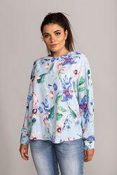 Яркая шикарная рубашка блуза вискоза H&M премиум линия Новая коллекция
