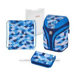 Ранец Herlitz Motion Plus Blue Cubes Кубики укомплектованный