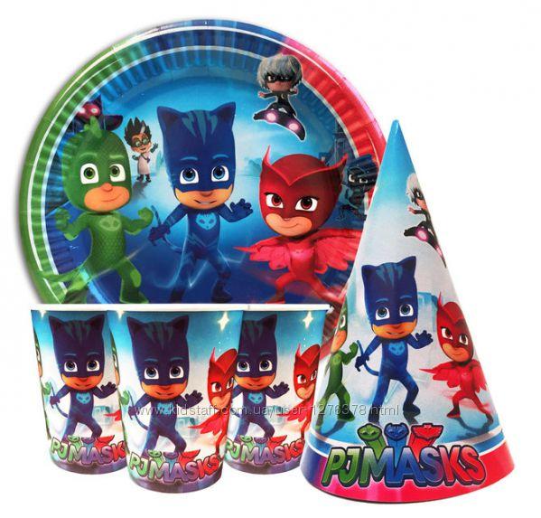 Набор одноразовой детской посуды  Герои в масках