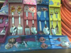 Набор детских столовых приборов с ложкойи вилкойв ассортименте