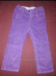 Брюки микровельвет фиолет Chicco 86см 1-1. 5года бу