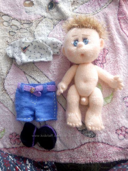 РУЧНАЯ РАБОТА Вязанная эксклюзивная кукла-мальчик. С изюминкой