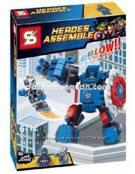 Конструктор SY361B Heroes Assemble Альтрон против робота Капитана Америка