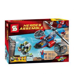 Конструктор Super Heroes SY315 Спасательный вертолёт Человека-паука, 327д