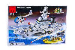 Конструктор Военный корабль 843 детали Brick-821