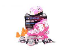Детские Ролики Kepai F1-K9 защита и шлем. 3 цвета. 3 размера