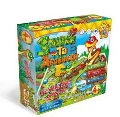 Настольная игра Змійки та драбинки  Змеи и лестницы Fun game