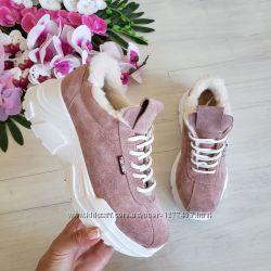 Супер новинка Натуральные кожаные кроссовки на легкой подошве