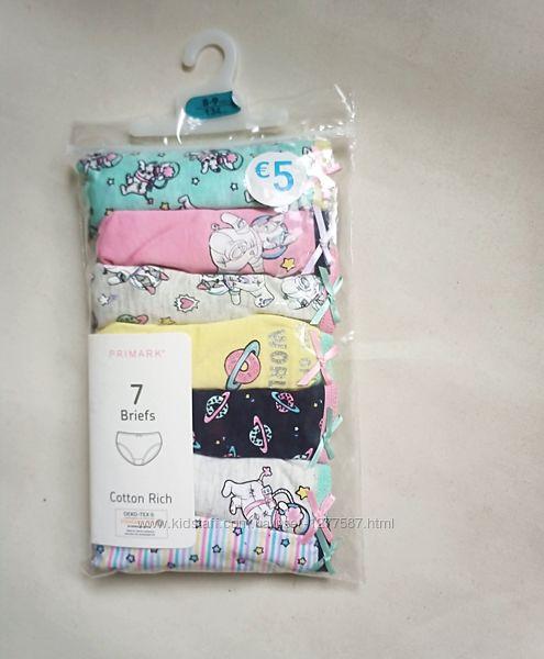 Хлопковые трусики для девочки набор 7 шт.