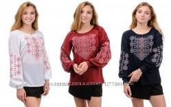 Необычная блузка, рубаха, кофта с рукавом и вышивкой. Ассортимент.