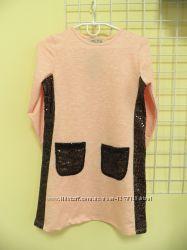 Платье с карманами 128-164.