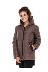 Стильная молодежная удлиненная куртка с асимметричным низом.