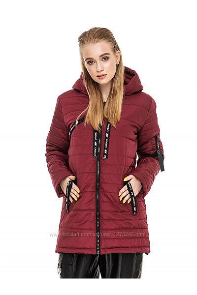 Модная женская удлиненная куртка с асимметричным низом