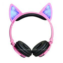 Наушники с кошачьими светящимися ушками LINX BL108A Bluetooth LED