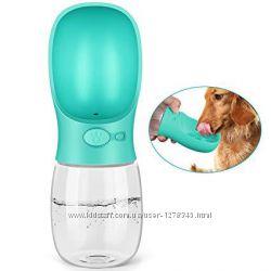 Портативная поилка для собак SUNROZ Dog Bottle прогулочная бутылка 350 мл