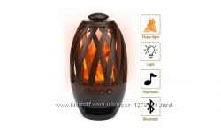 Беспроводная портативная Bluetooth колонка SUNROZ Flame Atmosphere Черная