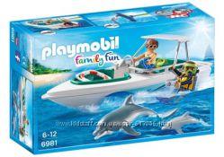 Playmobil 6981 Катер с дайверами и дельфины