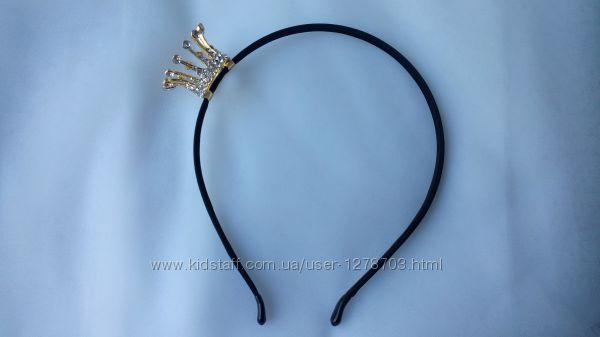 Новая Красивейшая золотая корона на обруче