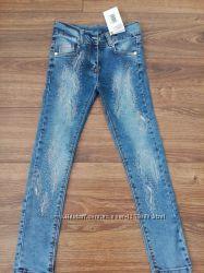 Брюки детские джинсовые для девочки подростковые