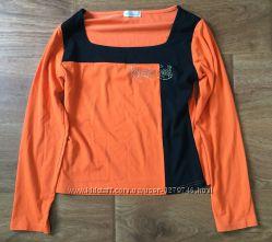 Блуза футболка оранжево-черная Kalgenina разм. 40