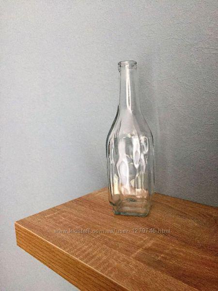 Интерьерная ваза графин 0, 5 л прозрачное стекло высота 23 см