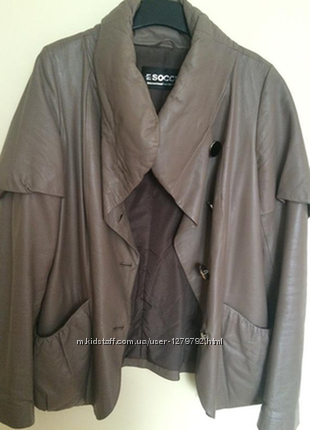 Куртка-жакет натур. кожа беж
