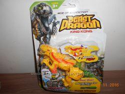 Динозавр трансформер, в наличии желтый на листе