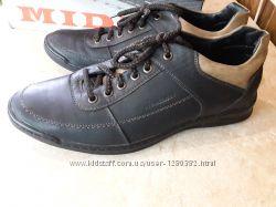 Туфли мужские кожа крейзи черный