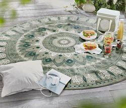 Узорный круглый коврик-скатерть для пикника Тchibo Германия