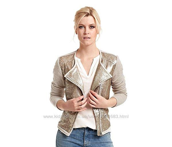 Легкая куртка с золотыми паетками Tchibo Германия, р. 40евро наш 46