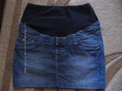 Продам бу юбку джинсовую 44 р. для беременных