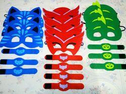Карнавальна маска з фетру Герої в масках Аллєт Геко Кетбой