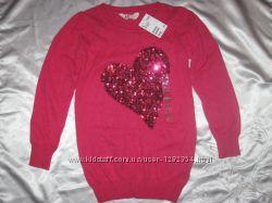 Новый платье-туника, сердечко в паеточках H&M на 8-10 лет рост 134-140 см