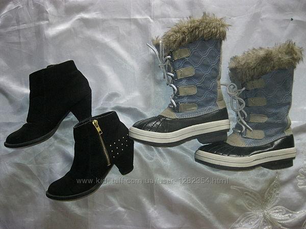 ботиночки NEW LOOK раз. 34  Сапожки деми р. 13 по стелечке 20 см