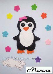 Новогодний пингвин из фетра  Новорічна іграшка пінгвін