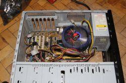 Материнка  процессор  куллер  корпус