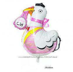 Фольгированные шары  на первый День рождения для девочки