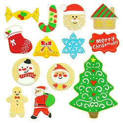 Новогодние Формочки металлические для печенья оригинальный рисунок 4-10 см