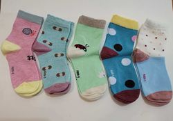 Детские носки хлопок яркий рисунок для девочки мальчика