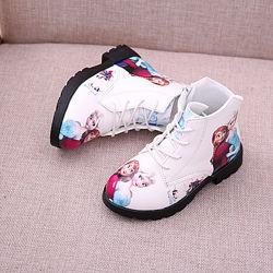 Ботинки для девочек обувь Эльза Холодное сердце