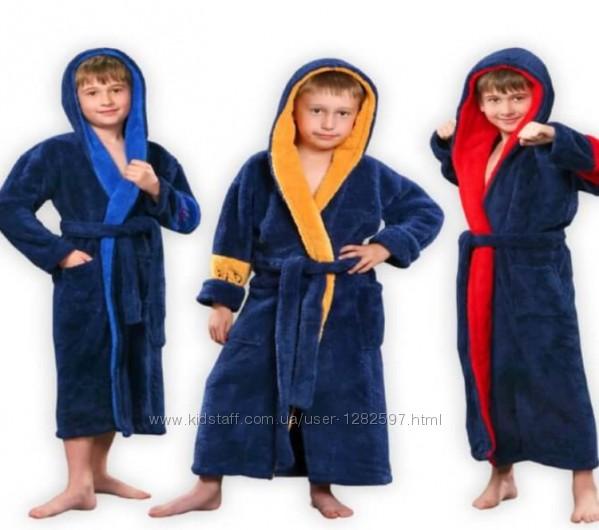 Махровые детские халаты