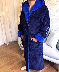 Мужские махровые пушистые халаты