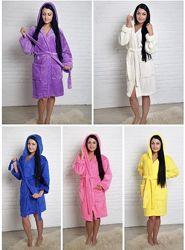 Махровые пушистые халаты все размеры