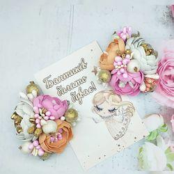 Цветы на резинке