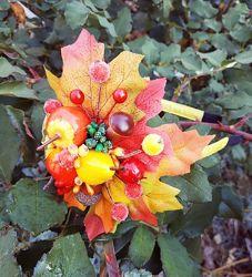 Обруч ободок осень калина